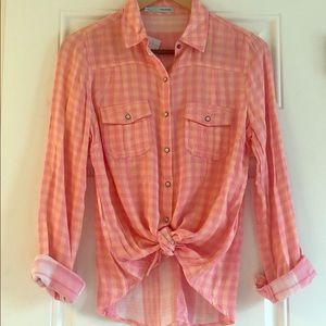 NWT Long Sleeve Button Down Top Sz S
